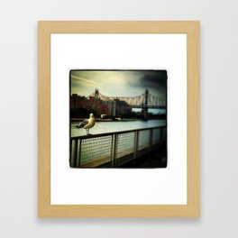 Waiting Framed Art Print