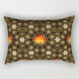 Flower of Fire Pussy Pattern Rectangular Pillow
