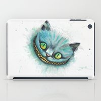 cheshire cat iPad Cases featuring Cheshire Cat by digiartpicture
