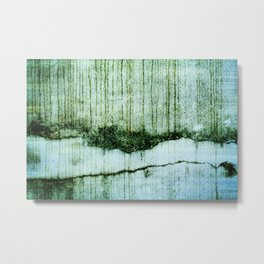 Wall with a river view Metal Print