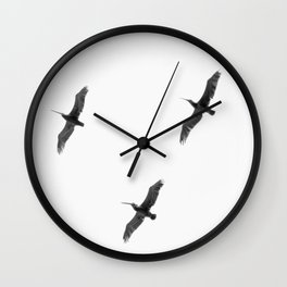 Trio of Fowl Wall Clock