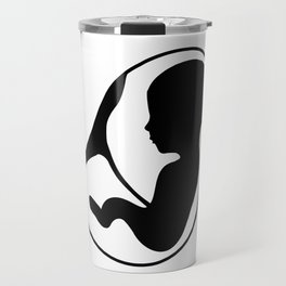 Fetus inside the womb with placenta attached Travel Mug