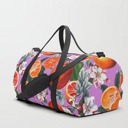 Vintage Fruit Pattern X Duffle Bag