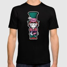 Lost Time in Wonderland SMALL Mens Fitted Tee Black