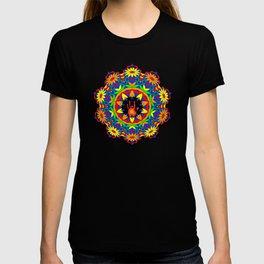Jerry Hand in a Daisy Mandala T-shirt