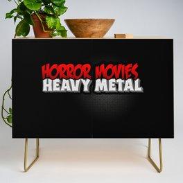 Horror Movies Heavy Metal Credenza