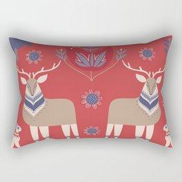 Scandinavian Winter Pattern Red #society6 #buyart Rectangular Pillow