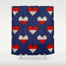 Heart half full half empty Shower Curtain