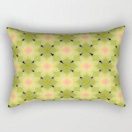 Green and yellow floral pattern. Rectangular Pillow