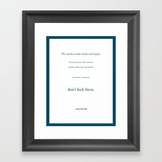 Books Are Cool Framed Art Print
