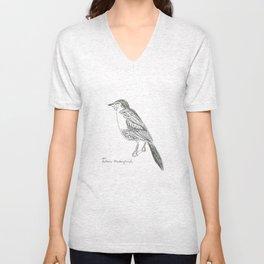 bahama mockingbird  Unisex V-Neck