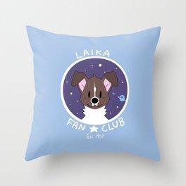 Laika Fan Club Throw Pillow