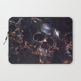 Black Gold Skull Laptop Sleeve