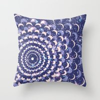 moon phases Throw Pillows featuring Moon Phases by Cina Catteau