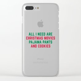 Christmas Movies Funny Xmas Quote Clear iPhone Case