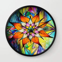 The Flowering Life Wall Clock