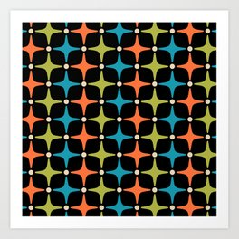 Mid Century Modern Star Pattern 931 Art Print