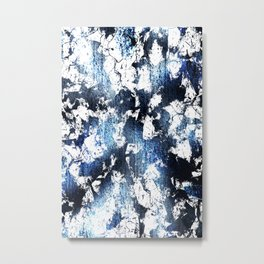 Blue sapphire and opal marbled abstract Metal Print