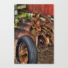 'Old Plow' Canvas Print