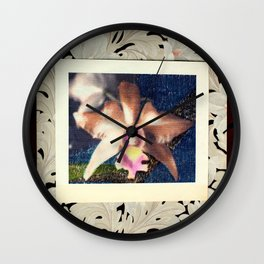 Not Your Usual Corsage Cattleya Wall Clock