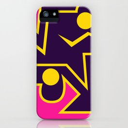 Lines and Curves World iPhone Case