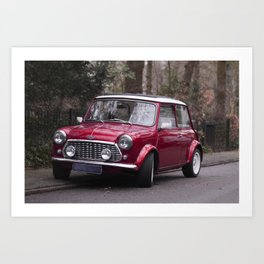 Classic red oldtimer I Vintage car I Street photography Art Print