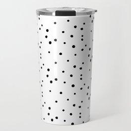 Dalmatian Polka Dots - White/Black Travel Mug