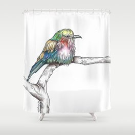 Mr. Grumpypants Rollerbird Shower Curtain