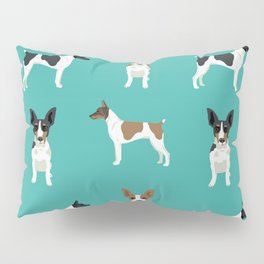 Rat Terrier dog breed pet art dog pattern gifts unique pure breed Pillow Sham
