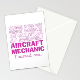 AIRCRAFT MECHANIC'S MOM Stationery Cards