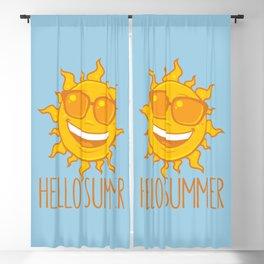 Hello Summer Sun With Sunglasses Blackout Curtain