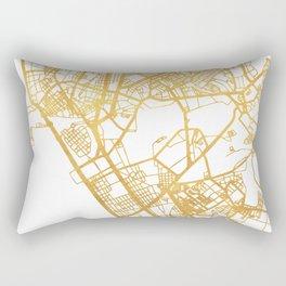 MANILA PHILIPPINES CITY STREET MAP ART Rectangular Pillow