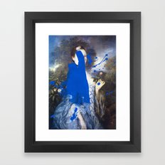 Blue Bomb Framed Art Print