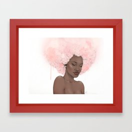 Pink Fro Framed Art Print