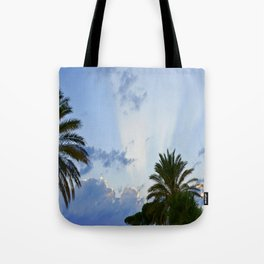 Palms on Clouds  Tote Bag