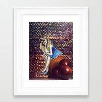 cara delevingne Framed Art Prints featuring Cara Delevingne by Creadoorm