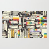netflix Area & Throw Rugs featuring VHS by HOLLIS BROWN THORNTON
