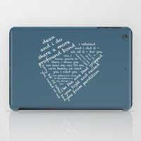 destiel iPad Cases featuring Quotes of the Heart - Destiel (White) by fairy911911