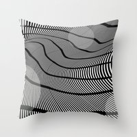 mid century Throw Pillows featuring Mid-Century Mod 2 by Patti Toth McCormick