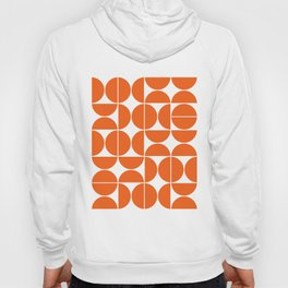 Mid Century Modern Geometric 04 Orange Hoody