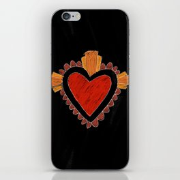 Black love iPhone Skin