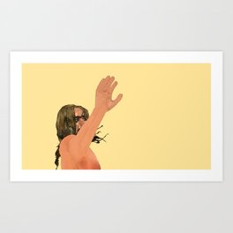 Pop hi five Art Print