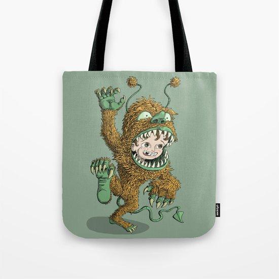 Monster Inside Tote Bag