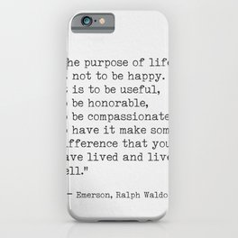 Ralph Waldo Emerson awesome quote 6 iPhone Case