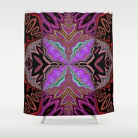 tiki Shower Curtains featuring Tiki  by Lyn Wiegand