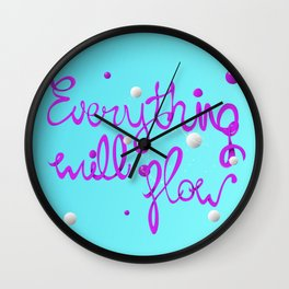 Everything will flow Wall Clock