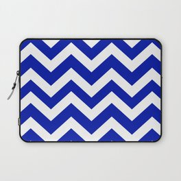 Zaffre - blue color - Zigzag Chevron Pattern Laptop Sleeve
