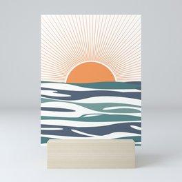 Sunrise by the sea Mini Art Print