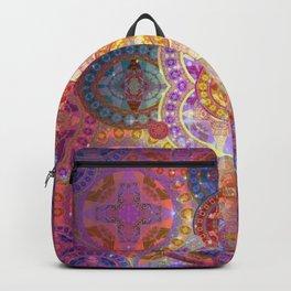 Glowing Glass Fire Star Mandala Backpack