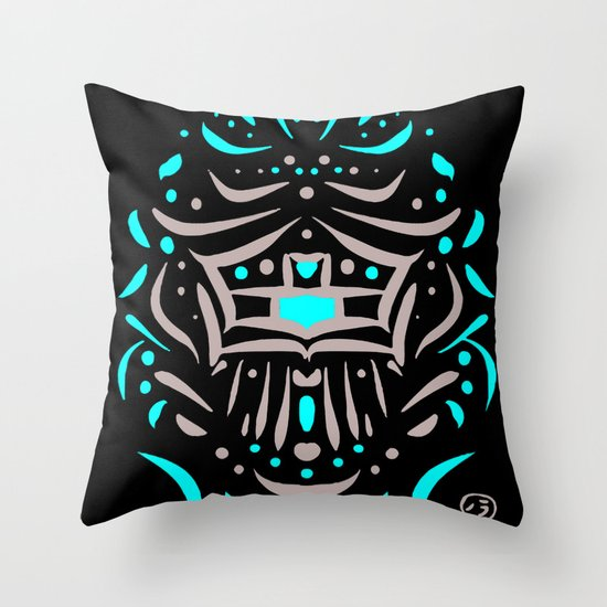 Temple of faces Throw Pillow